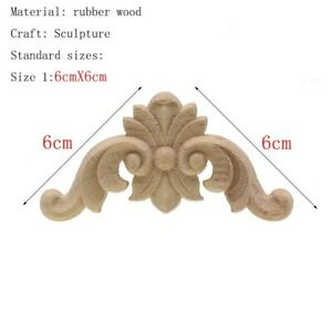 Onlay Appliques Decal Wood Carving Furniture Floral Decorative Craft Mouldings