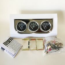 MOONEYES Classic 3 Gauge Set with Chrome Under Dash Panel - Mechanical