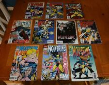 LOT H 10 WOLVERINE COMIC BOOKS LOT FOR COLLEGE BOOKS / TUITION - READ BUT LOVED