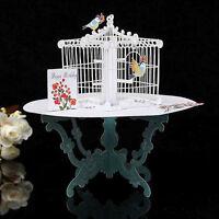 3D-Tisch Birdcage Pop Up Grußkarte Geburtstag Hochzeit handgemachte Postkarte CJ