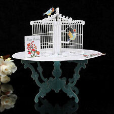 3D Table Birdcage Pop Up Greeting Card Birthday Wedding Gift Handmade Postcard G