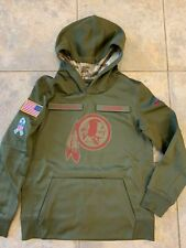 Nike Boys M Medium NFL Salute To Service Hoodie Sweatshirt Washington Redskins
