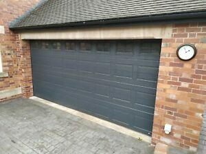 Ryterna Electric Sectional Double Garage Door - Automatic Remote - Fully Working