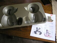 Nordic Ware 10~Cup 3~D Stand-Up TEDDY Build~A~BEAR Cake Pan Mold w/ Instructions