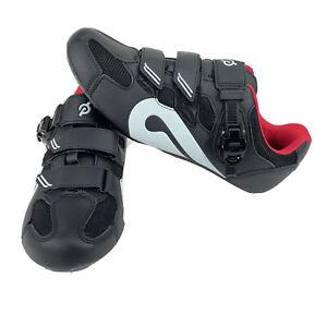 Peloton B-20 Black Leather Color Block Unisex Cycling Shoes No Cleats Sz 46