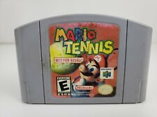 Mario Tennis Not For Reasle NFR Nintendo n64 Game Demo Authentic w Sticker