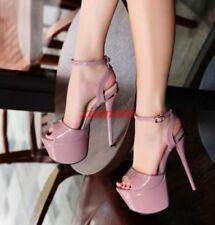17CM High Heel Ladies Open Toe Platform Sexy Clubwear Stilettos Sandals Shoes Sz