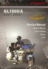 2001 to 2005 HONDA GL1800/A GOLDWING OWNERS SERVICE PARTS MANUAL CDROM-GOLD WING