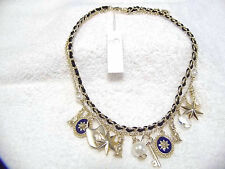 Jessica Simpson Gold/Black Necklace with Charms