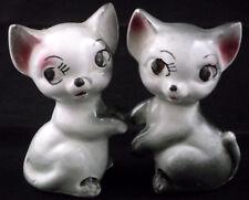 Cat Kitty Kitten Salt Pepper Shakers Kittens Vintage Black And White