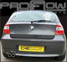 BMW 1 SERIES STAINLESS STEEL CUSTOM BUILT EXHAUST SYSTEM TWIN TAIL PIPE