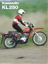 Kawasaki KL250A ( A1 )  Sales Brochure, Original NOS