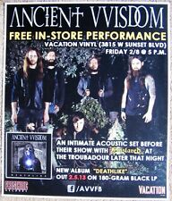 Ancient Vvisdom 2013 Gig Poster Los Angeles In-Store Concert