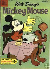 RARE DELL COMIC WALT DISNEY'S MICKEY MOUSE #73, 1960 F