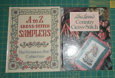 2 Books Alma Lynne's Country Cross- Stitch & Vanessa-Ann's A to Z Samplers
