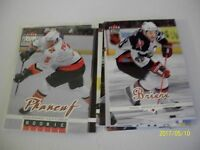 LOT OF 10 ULTRA  2005-06 WITH LEMIEUX AND 2 ROOKIES: ALBERTS-LENEVEU