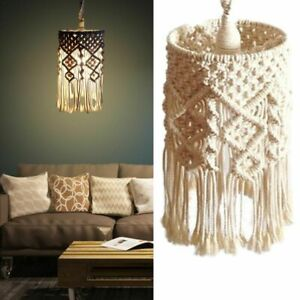Handmade Woven Tapestry Lampshade Wall Hanging Household Restaurant Decoration
