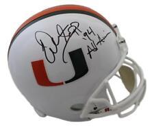 Warren Sapp Autographed/Signed Miami Hurricanes Replica Helmet All American JSA