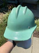 Teal 502 Vtg Fiberglass Hard Boiled Ed Bullard Co Construction Steelworker Hat
