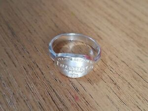 Return to Tiffany, Tiffany & Co 925 Sterling Silver Oval Tag Ring