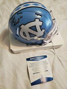 JAVONTE WILLIAMS signed autographed North Carolina mini helmet BECKETT COA