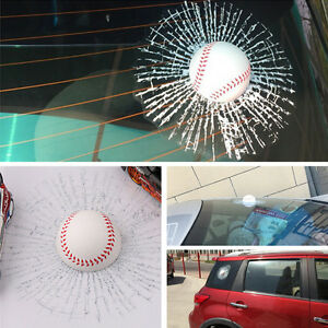 Car Decal Windshield Glass Body Simulation 3D Baseball Adhesive Crack Sticker