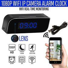 HD 1080P Wireless Wifi IP Spy Hidden Camera Motion Security Alarm Clock IR Cam