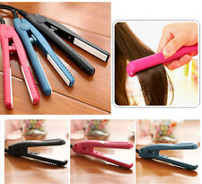 Professional Mini Ceramic Iron Hair Straightener Curler Hairdressing DIY Tool