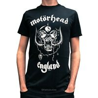 Official Motorhead England Everything Louder T Shirt New Black Tee Lemmy Logo