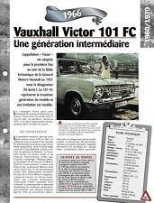 VOITURE VAUXHALL VICTOR 101 FC FICHE TECHNIQUE AUTOMOBILE 1966 COLLECTION