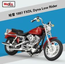 1:18 Maisto Harley Davidson 1997 FXDL DYNA LOW RIDER Bike Motorcycle Model Red