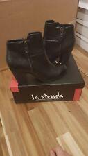 La Strada Black snake skin look ankle boots UK 6