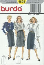 burda 4898 Misses' Skirts 12 to 22  Sewing Pattern