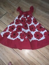Gymboree Size 12/18 Months Red Floral Dress