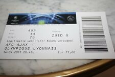 TICKET )) AJAX AMSTERDAM V LYON OL )) Champions League 2011/2012