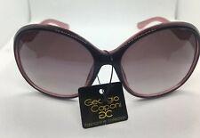 Women Rounded Purple Sunglasses Eyewear Georgio Caponi Fashion Collection NEW