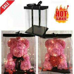 Rose Bear Artificial Flowers Wedding Birthday Valentine Gifts Box(only box)
