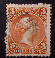 *Kengo* Canada stamp #25 Large Queen used CV$20 @253