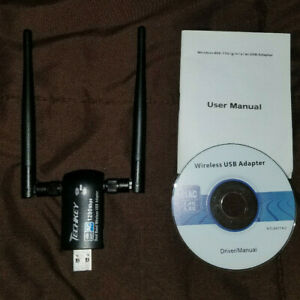 Techkey wifi adapter 1200Mbps Dual Band USB Great Condition 2.42GHz/300Mbps 5.8G