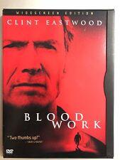 CLINT EASTWOOD Sangre trabajo ~ 2002 Murder Mystery/Acción Suspense US 1 DVD