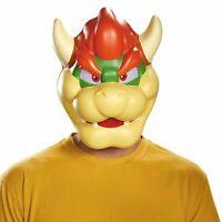 Adult King Koopa Bowser Super Mario Villain Halloween Plastic Costume Mask
