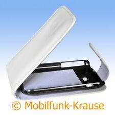 Flip Case Etui Handytasche Tasche Hülle f. Samsung GT-S5300 / S5300 (Weiß)