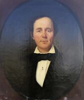Biedermeier Herrenportrait Wefels Kaufmann Aachen um 1850 68 x 58 Ölgemälde