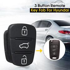 3 Button Remote Flip Key Fob Case Repair Rubber Pad For Hyundai I10 I20 I30 AU