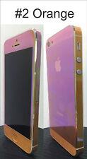 For iPhone 4S Transparent Colour Change Vinyl Sticker Free Extra Mix Edge Set