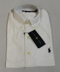Ralph Lauren Men's L/S Slim Fit Core Replen Shirt SV3 White Size XS NWT