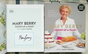 MARY BERRY SIGNED COOKS UP A FEAST UK HB 2019 BRAND NEW UNREAD COPY