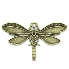 Packet 5 x Steampunk Antique Bronze Tibetan 43mm Dragonfly Charm/Pendant ZX04795