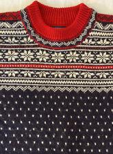 Vintage Lands End Direct Merchants Men's Heavy Wool Nordic Sweater LG Fair Isle
