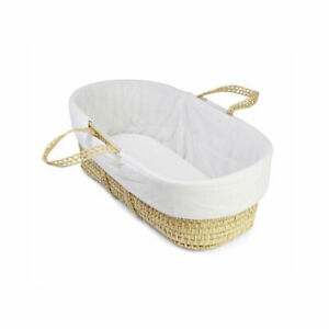 Clair de Lune Moses Basket Quilted Liner